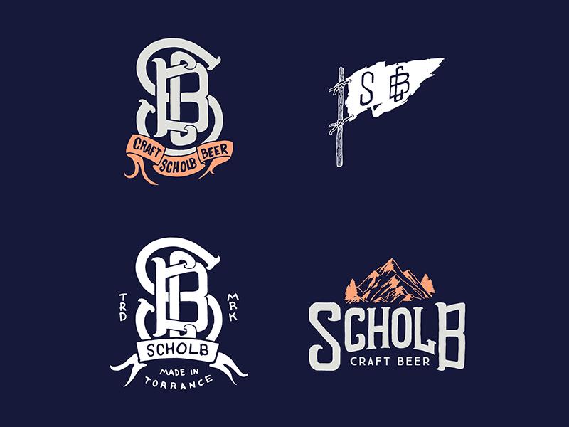 Scholb Brewery Illustrations and Marks drawing sketch artwork graphic design line art illustrator vector illustration