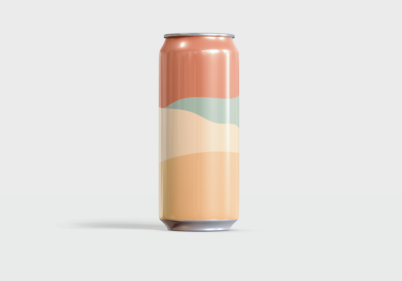Desert Farmhouse Saison — Exploration No 13 Can colors beer can color theory color minimalist minimal graphic design simple vector illustration illustrator illustration vector