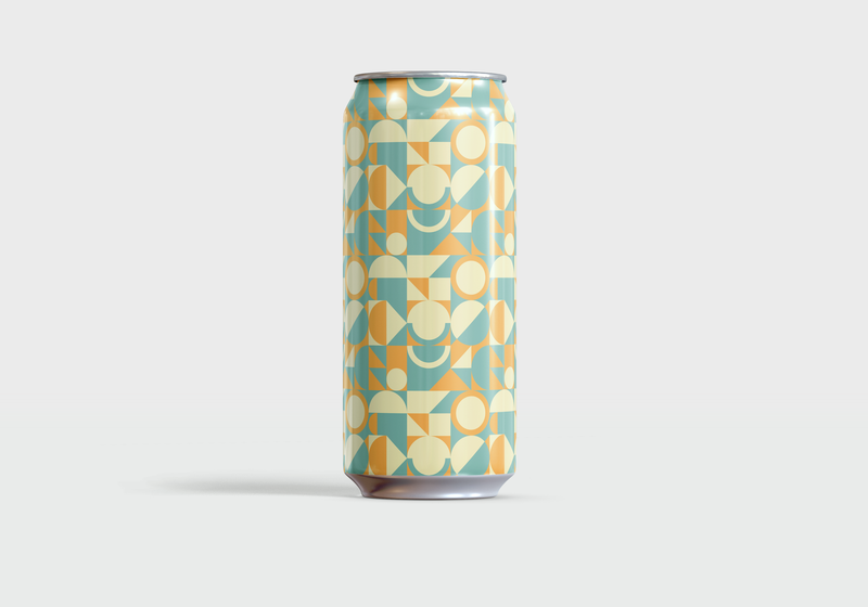 It's A Stout World After All — No. 14 geometic geometric art color pattern beer art beer beer can passion project minimal graphic design simple vector illustration illustrator illustration vector