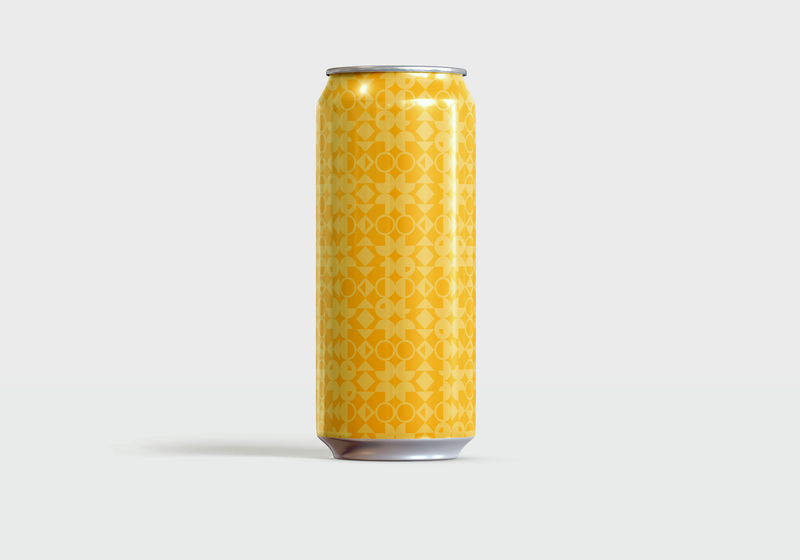 Not Your Typical Mid Century Hefeweizen packaging beer labels patterns beer can pattern pattern art color theory design beer color minimal graphic design simple vector illustration illustrator illustration vector