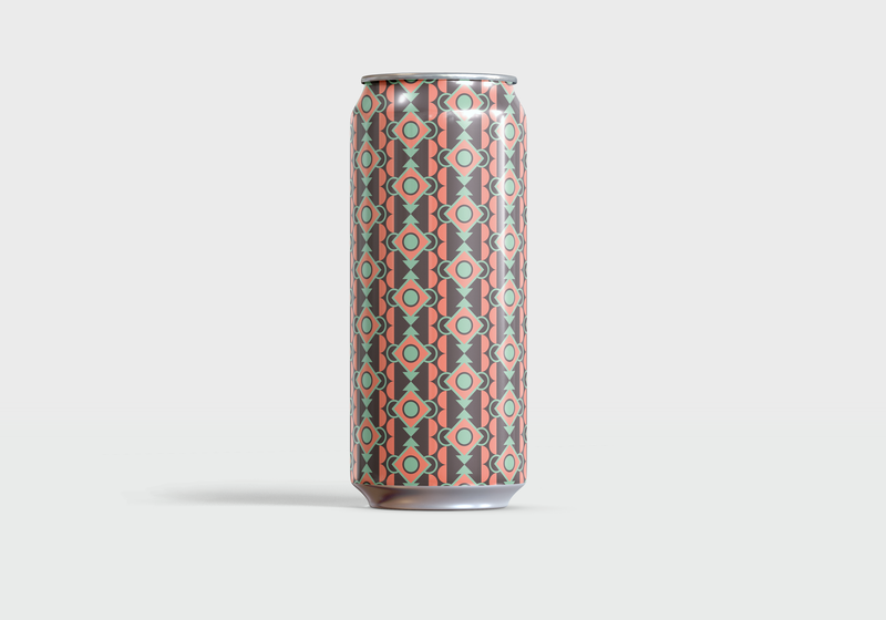Aztec Summer Saison packaging beer can simple minimal pattern art color theory beer color design graphic design vector illustration illustrator illustration vector