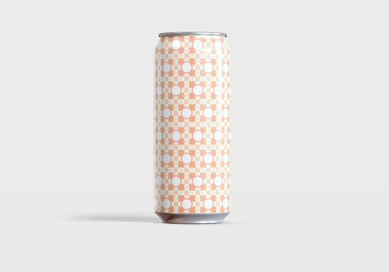 Cream Ale with Peaches or Guava color theory beer design pattern color line art minimal graphic design simple vector illustration illustrator illustration vector