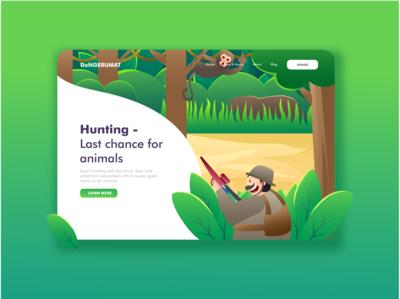 Hunting Landing Page