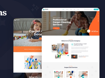 Fouens - Carpet Cleaning Company Template