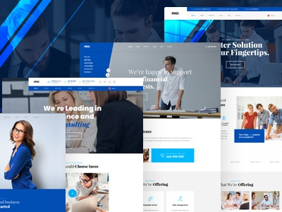 Ineoz - Consulting & Finance Business PSD Template