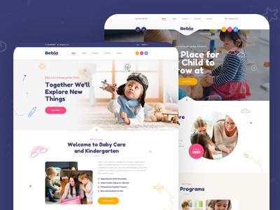 Bebio - Kindergarten & Baby Care PSD Template