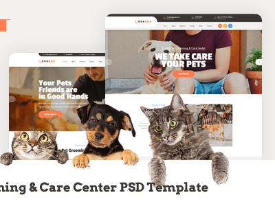 Poopet - Pet Grooming & Care Center PSD Template