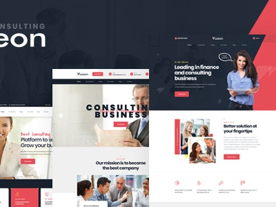 Vizeon - Business Consulting PSD Template