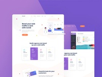 Nonid - SEO & Software Landing Page PSD Template