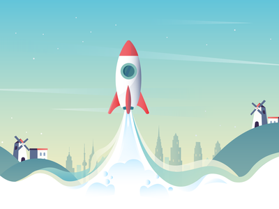 startup minimal web landingpage website design flat website vector illustration design