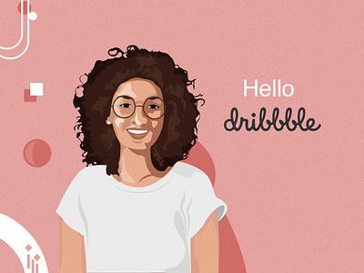 Hello Dribbble design vector illustration