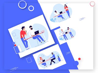 Designers website vector illustration design