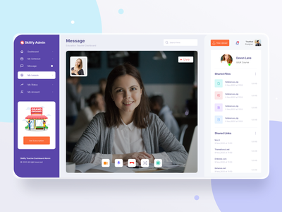 Skilify For Education & Learning Management System Dashboard website design educational calligraphy dashboard app dashboard ui education