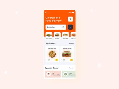 Food Delivery service - Mobile App foodie food logo vector website ui typography design illustration madbrains animation food delivery mobile ui food and drink food app food design