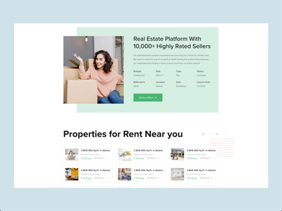 Find hoME webdesign landing page ui typography landing design madbrains rental rent home redesign proerty website design real estate
