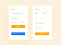 Login & Sign up Screen
