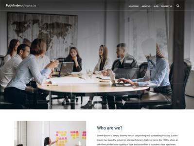 Parthfinder Website UI / UX