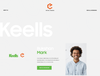 Metric Makers Marketing Website UI /UX