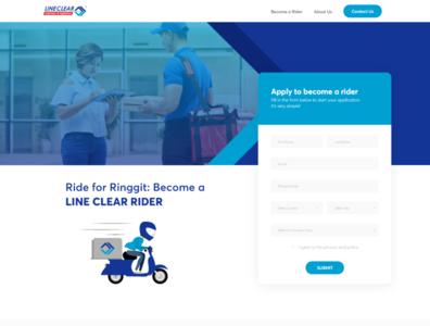 Lineclear Curier Service Website UI / UX
