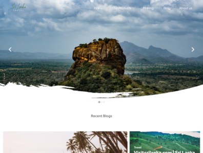 Travel Blog UI / UX