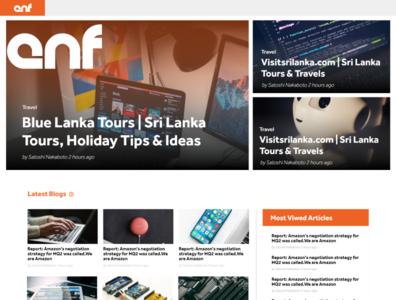 ENF News Website UI / UX