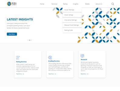 ICRA Website UI / UX