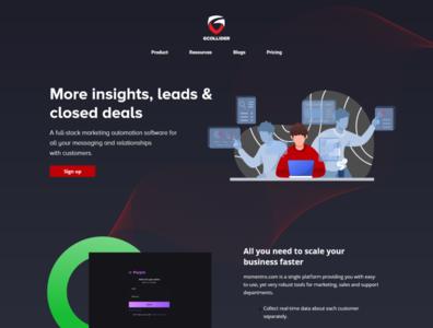 G-Collider Website UI /UX