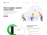 Momentro Product Website UI / UX