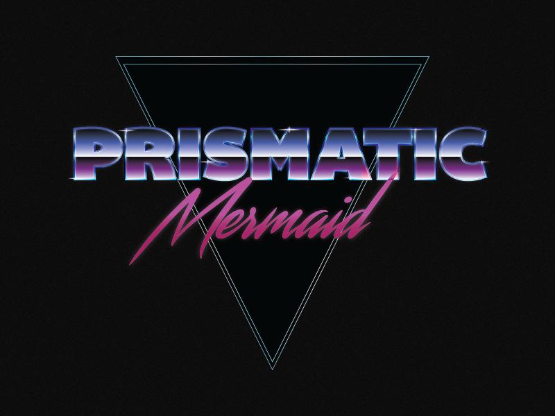 Prismatic Mermaid Logo - WIP vectors illustrator prism typography eighties mermaid logo