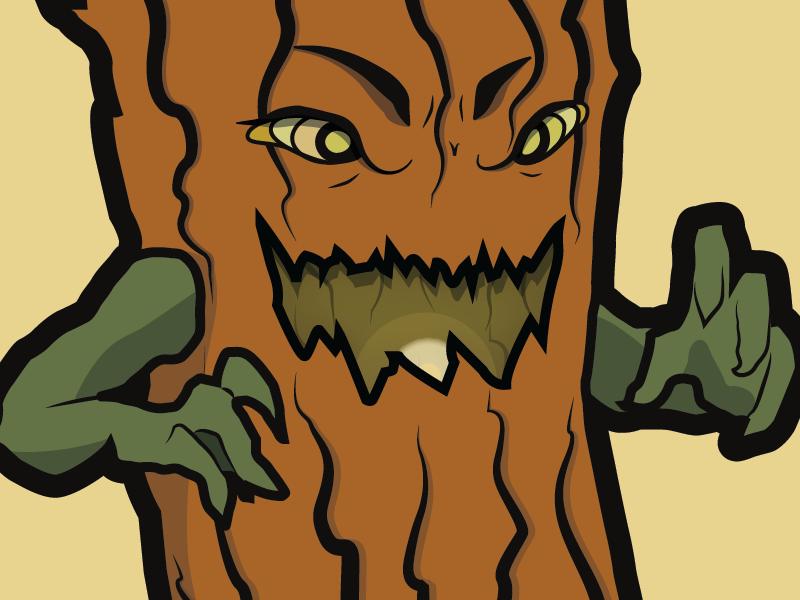Scratchy Log vector graphics character design