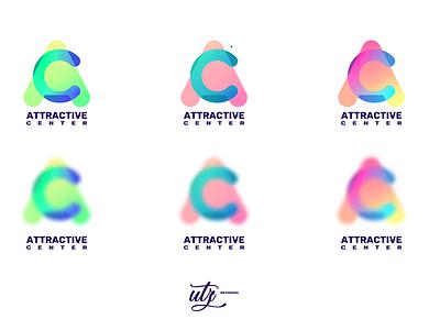 ATTRACTIVE CENTER logo illustrator vector typography logo icon design branding
