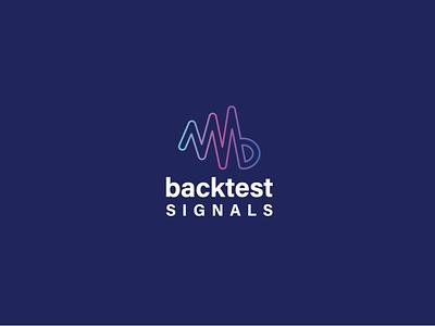 backtest signals logo vector illustration typography logo icon design branding