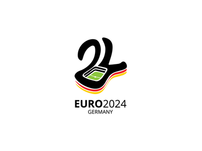 EURO 2024 GERMANY typography vector illustration logo icon design branding