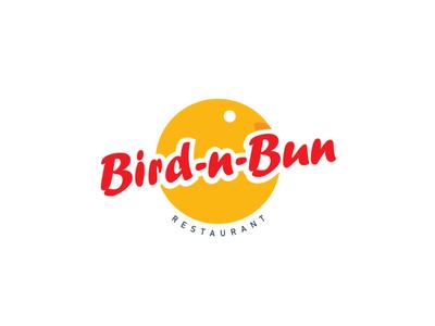 Bird'nBun Restaurant logo vector illustration typography logo icon design branding