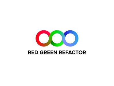redgreenrefactor logo vector illustration typography logo icon design branding