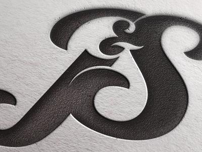 J&S Logo logo design mark emboss