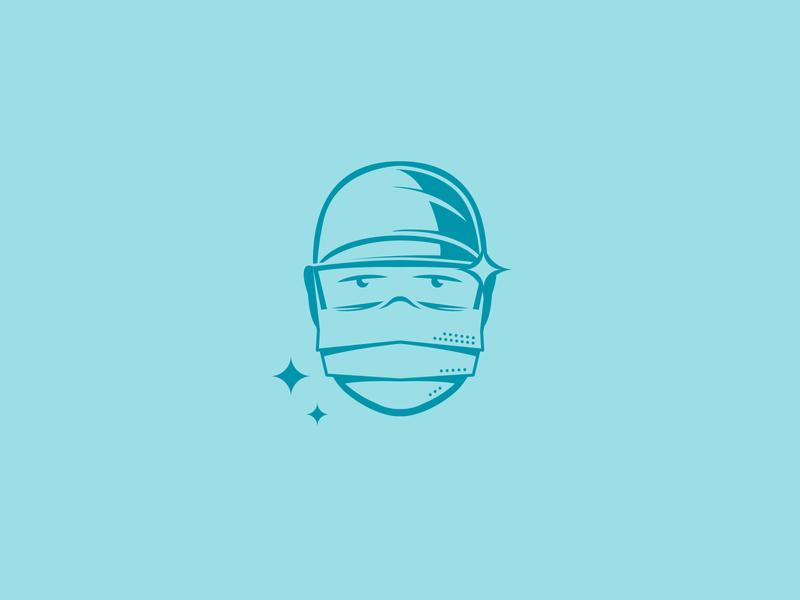Surgical Magic branding design mark mask doctor branding logo
