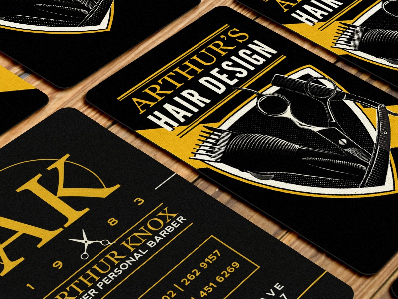 Barber Business Card by Andrew Sullivan - Dribbble