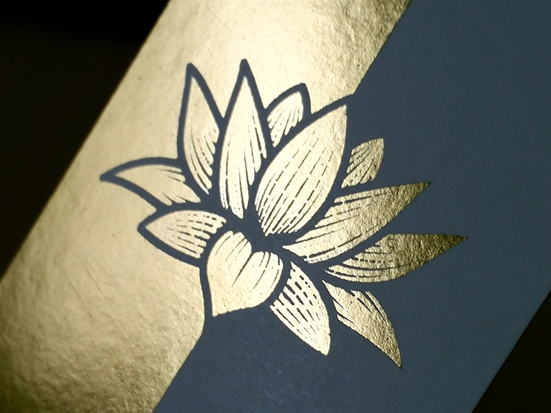gold foil lotus business card by andrew sullivan dribbble