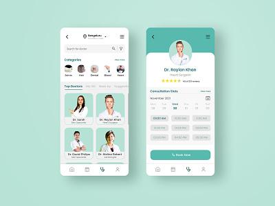 Application UI for Online Doctor Consultation appui application uiux brandiing graphic design ui