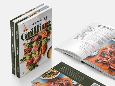 Food & Wine Grilling Book book typography branding design