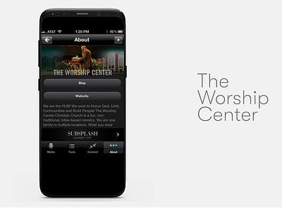 The Worship Center Mobile App UI ui design branding ui prototype