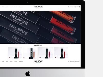 INLOVE cosmetics email campaign typography branding design photography ui design web  design