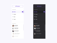 UI Kit Navigation Components - Light & Dark component library uidesign uiux app menu navigation component ui