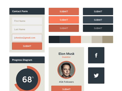 Flat UI Kit - Free Download ui ui kit freebie download flat