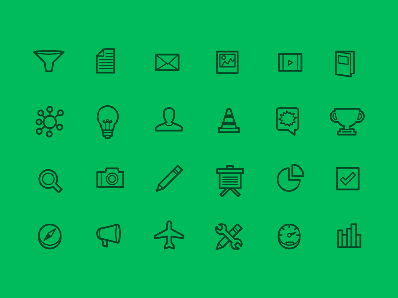 Top Secret Icon Set icons flat illustrator