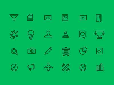 Top Secret Icon Set icons flat illustrator