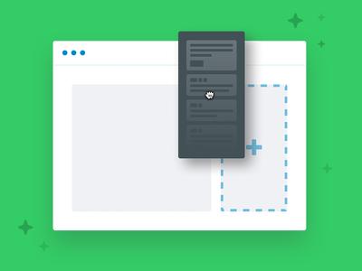 Widget Illustration landing page feature drag and drop illustration