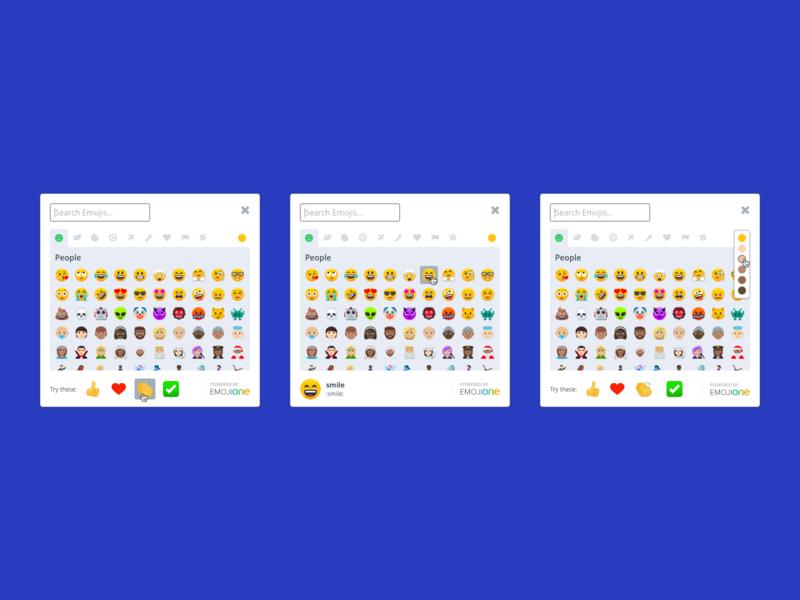 Emoji Picker Concept web app vector icon layout design emotion chat product ui picker emoji