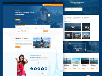 Wend - Tour and Travel  template logo business branding free download andit tourism tour package tour operator tour booking tour agency tour sailing reservation hotel holiday booking adventure